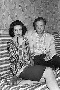 Jean-Louis Trintignant and Stefania Sandrelli at the press conference for