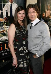 Jeanne Tripplehorn and husband Leland Orser at the premiere of HBO's