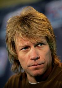Jon Bon Jovi at the media conference for the AFL's 20th season kick off at the ESPN Zone.