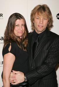 Jon Bon Jovi and wife Dorotheaat the amfar and ACRIA gala benefit honoring photographer Herb Ritts.