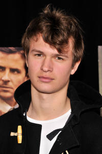 Ansel Elgort at the New York premiere of
