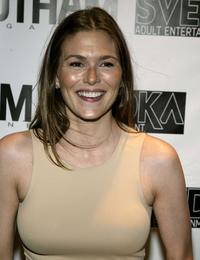 Paige Turco at the party celebrating New York Upfronts with L.A. Confidential.