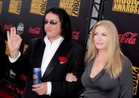 Shannon Tweed and Gene Simmons at the 2007 American Music Awards.
