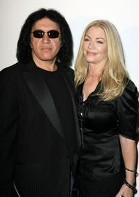 Gene Simmons and Shannon Tweed at the Mercedes-Benz Fashion Week.