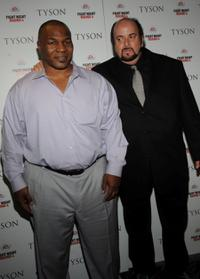 Mike Tyson and James Toback at the screening of