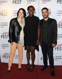 Paulina Garcia, AFI Fest Director Jacqueline Lyanga and director Sebastian Lelio at the photo call for
