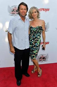 Vincent Van Patten and Eileen Davidson at the Aces & Angels Celebrity Poker Party.