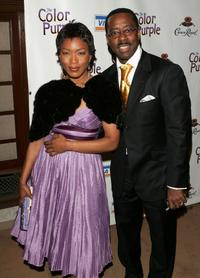 Courtney B. Vance and Angela Bassett at the after party for the opening of