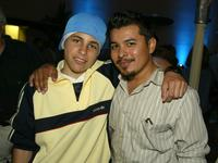 Pablo Santos and Jacob Vargas at the WB Networks 2002 Summer Party.
