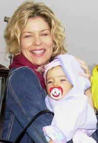 Kate Vernon and daughter at the
