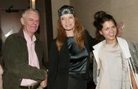 Director Paul Morrissey, Veruschka and Lika Volkovo at the special screening of