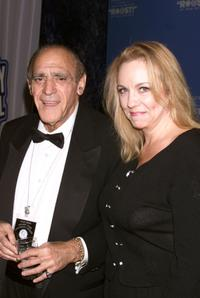 Abe Vigoda and Brett Butler at the New York Friar's Club Roast of Rob Reiner.