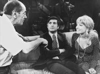 Monica Vitti, Luis Bunuel and Jean-Claude Brialy on the sets of the film