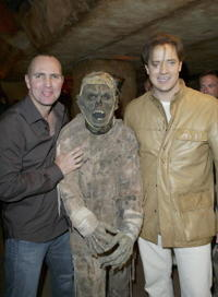 Arnold Vosloo and Brendan Fraser at the gala benefit opening of