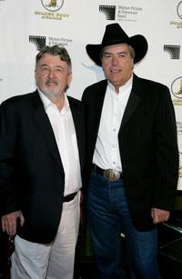 Powers Boothe and Walter Hill at the Golden Boot Awards.
