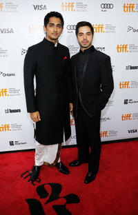 Siddharth Narayan and Satya Bhabha at the premiere of