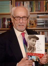 Eli Wallach at a book signing of his book