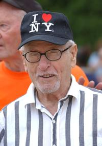 Eli Wallach at the 56th Annual Artist and Writers Softball Game to benefit East End Hospice.