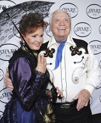 Ernest Borgnine and his wife Tova Traesnaes at 53rd Annual Boomtown Benefit.