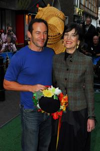 Jason Issac and Harriet Walter at the UK premiere of