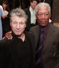 Fred Ward and Morgan Freeman at the premiere of