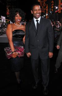 Pauletta Washington and Denzel Washington at the California premiere of