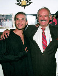 Jesse Borrego and Antonio Gutierrez at the Antonio's Restaurant in California.