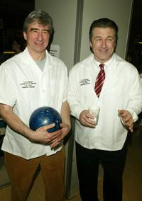 Sam Waterston and Alec Baldwin at the 17th Annual Second Stage All-Star Bowling Classic.