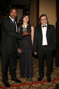 Carl Weathers, Arunas Matelis and wife at the 59th annual Directors Guild Of America Awards.