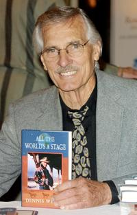 Dennis Weaver at the 26th Anniversary Book Fair Benefit for the Robert F. Kennedy Medical Center.
