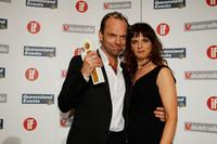 Hugo Weaving and Julia Zemiro at the Inside Film Awards (IF).