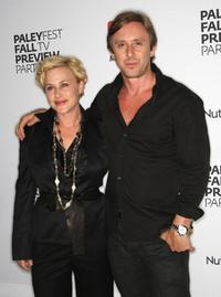 Patricia Arquette and Jake Weber at the PaleyFest and TV Guide Magazine's CBS Fall television preview party.