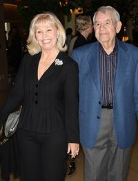 Tom Bosley and Guest at the Tribute To Mary Tyler Moore.