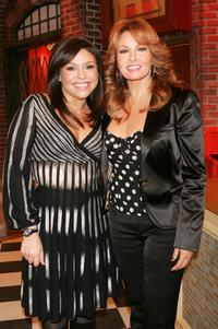 Raquel Welch and Rachael Ray at the Rachael Ray show.