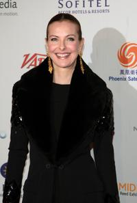 Carole Bouquet at the 35th International Emmy Awards Gala.