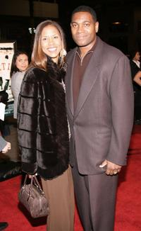 Mykelti Williamson and Guest at the premiere of