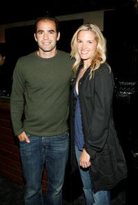 Pete Sampras and Bridgette Wilson at the premiere of