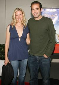 Pete Sampras and his wife Bridgette Wilson at the premiere of