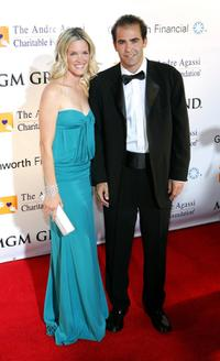 Bridgette Wilson and Pete Sampras at the 11th annual Andre Agassi Charitable Foundation's Grand Slam benefit concert.
