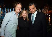 Bret Harrison, Dawn Ostroff and Ray Wise at the CW Television Critics Association Press Tour party.