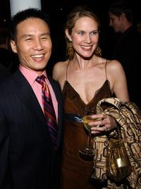 B.D. Wong and Stephanie March at the after party of