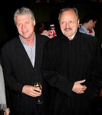 Roger Donaldson and Peter Bowles at the after party of the world premiere of