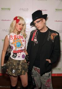 Boy George and guest at the Lydia Hearst's 21st birthday hosted by Heatherette.