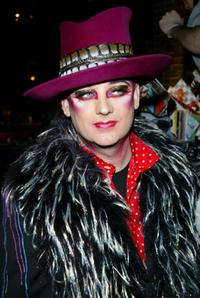 Boy George at the Ian Schrager's Hudson Hotel.