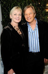 Claire Chapman and Michael York at the UK Film Council US Post Oscars Brunch.