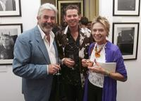 Susannah York, Cambridge Jones and John Alderton at the private view for
