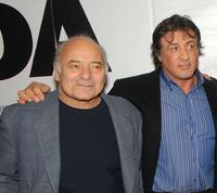 Burt Young and Sylvester Stallone at the premiere of