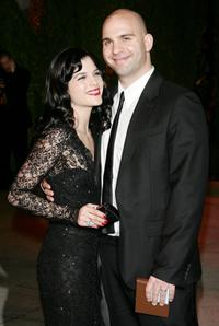 Selma Blair and Ahmet Zappa at the Vanity Fair Oscar Party.