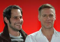 Moritz Bleibtreu and Bryan Adams at the Audi A4 Private Night With Bryan Adams.