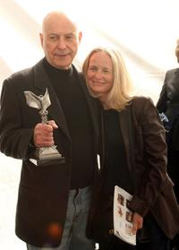 Alan Arkin and his wife Barbara Dana at the Film Independents 2007 Spirit Awards.